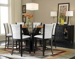 Round Glass Tables For Kitchen Daisy 7 Pc Round Counter Height Set Table And 6 Chairs Bar