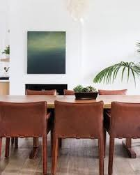 amber interiors latest project is positively dreamy leather dining room sets