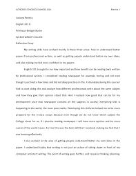 English Reflective Essay Example