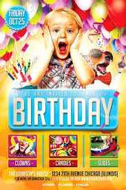 Birthday Flyers Kids Birthday Party Flyer Template Download Xtremeflyers