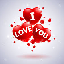 i love you with heart ilration for wedding design stock vector 12491014