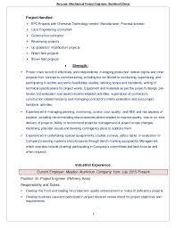 Resume: Mechanical Project Engineer ...