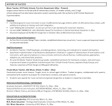 Resume How To Write Teachers Teaching Position Teacher With No A