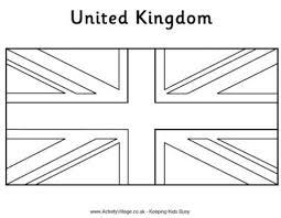 Secrets England Flag To Colour Printable Of United Kingdom Jigsaw