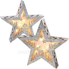 Leuchtender Stern Holz Weihnachtsdeko Mit Motiv Led Beleuchtung 1 Stk 38x7 Cm Matches21