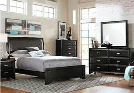 black queen bedroom sets. Upholstered Queen Bedroom Sets Black 5 Tufted Headboard Set .