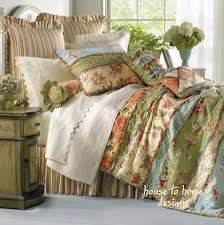 Garden Dream 7pc Queen Quilt Set Country Cottage Rag Patch Floral ... & Garden Dream 7pc Queen Quilt Set Country Cottage Rag Patch Floral Comforter  | eBay Adamdwight.com