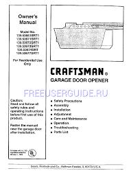 craftsman garage door opener 41a4315 7d owners manual