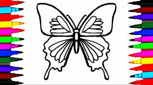 coloring pages butterflies. Simple Butterflies Colours For Kids Butterfly Coloring Pages L How To Draw Insects Videos  Learn Colors On Butterflies S