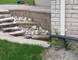 patio french drain systems