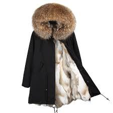 MAO MAO KONG <b>Fashion</b> women's <b>real rabbit fur</b> lining winter ...