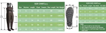 Mens Waders Size Chart Oxyvan Waders Waterproof Lightweight Fishing Waders With Boots Bootfoot Hunting Chest Waders For Men Women