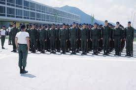 Usafa Cadet Pay Chart Cadets Stand At Attention Before Marching To Jacks Valley
