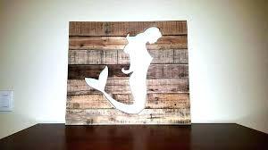mermaid wall art wooden pallet outdoor metal m