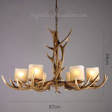 elk 6 antler chandelier candle style