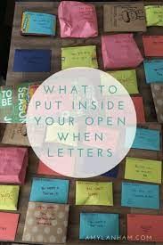 Maybe you would like to learn more about one of these? What To Put Inside Your Open When Letters Amylanham Com