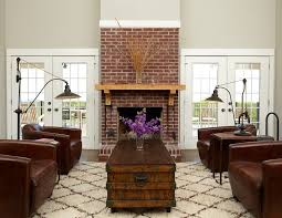 spectacular greige paint decorating ideas for living room traditional design ideas with spectacular brick brick fireplace
