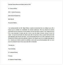 Recomendation Letters Sample Letter Of Recommendation For Graduate School From Coworker