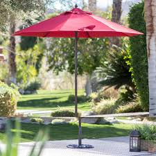 patio umbrella anchor unique red 7 5 ft patio umbrella with dark mahogany stained pole of