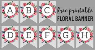 Birthday Banner Printable Floral Alphabet Banner Letters Free Printable Paper Trail