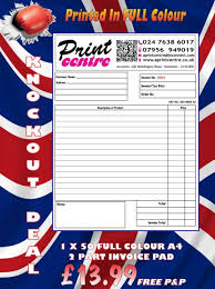 Receipt Builder 50 Personalised A4 Duplicate Builder Invoice Receipt Delivery Note Order Book