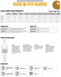 Size Chart Carhartt