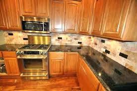 Backsplash Pictures For Granite Countertops Adorable Here Granite Backsplash With Tile Above Kitchen Ideas Countertops