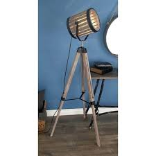 spotlight floor lamp rustic inch iron and wood tripod spotlight floor lamp by studio spotlight floor