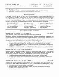 Registered Nurse Resume Template New Nursing Resume Examples Free