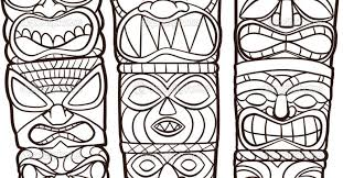 Small Picture Hawaiian Tiki Mask Coloring Pages Print Kids Gekimoe 78828