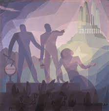 turbulence of america in s gives rise to distinct artistic aaron douglas aspiration 1936 fine arts museum of san francisco