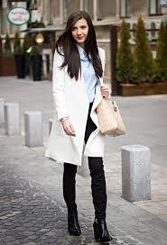 15 fashionable ways to style white winter coats