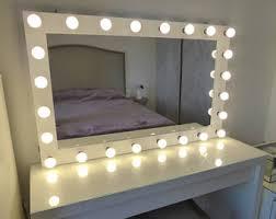 makeup mirror lighting. XL Hollywood Vanity Mirror- 43x27\u0027\u0027 - Makeup Mirror With Lights-Wall Hanging Lighting R