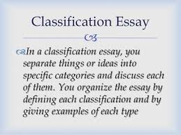 kind of essays  examples of each type classification essay 4