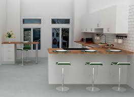 Kitchen Peninsula Stylish Open Kitchen Peninsula Design With Mini Bar Seating