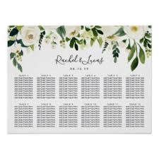 Vistaprint Wedding Seating Chart Alabaster Floral Wedding Seating Chart