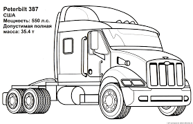 Download Coloring Pages. Semi Truck Coloring Pages: Semi Truck ...