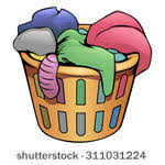 laundry basket clipart. Doodle · Washing Machine Vector Illustration Cartoon Orange Clothes Basket Laundry Clipart T