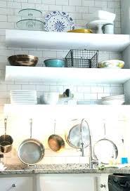 floating shelf with lights underneath under cabinet lighting in open shelves diy led