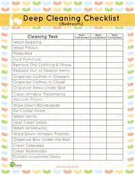 cleaning checklists printable deep cleaning bedroom checklist mom it forwardmom it