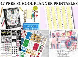 free school planner printables free school planner printables
