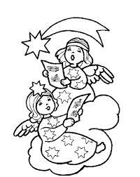two christmas angel singing christmas song coloring pages   angel    two christmas angel singing christmas song coloring pages