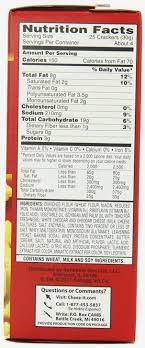 cheezits nutrition label baby address labels