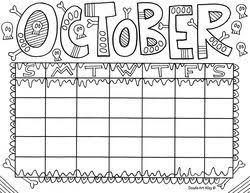 Enjoy Some Calendar Coloring Pages These Are Great For Students To
