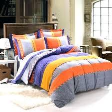 orange and grey comforter sets gray set bedding burnt yellow blue rugby stripe livingston