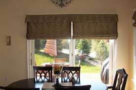 fresh sliding glass door roman shades and window treatment ideas