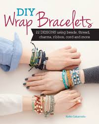 diy wrap bracelets 22 designs using beads thread charms ribbon cord and more