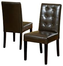 gdfstudio gillian leather dining chair set of 2 reviews houzz leather dining chair modern red leather
