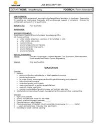 Housekeeping Room Attendant Job Description