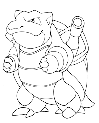 Small Picture Download Pokemon Coloring Pages Mega Blastoise